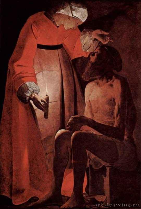 Иов и его жена. 1625-1650