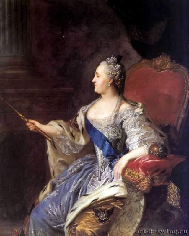 Ф с рокотов портрет екатерины ii 1763