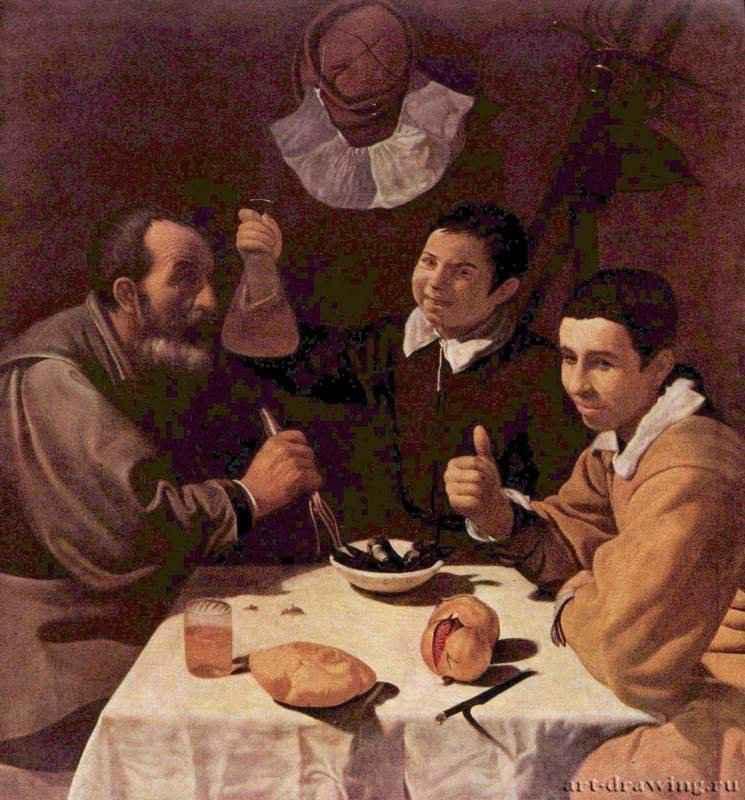 Завтрак - 1618 *108,5 x 102 смХолст, маслоБароккоИспанияСанкт-Петербург. Государственный Эрмитаж